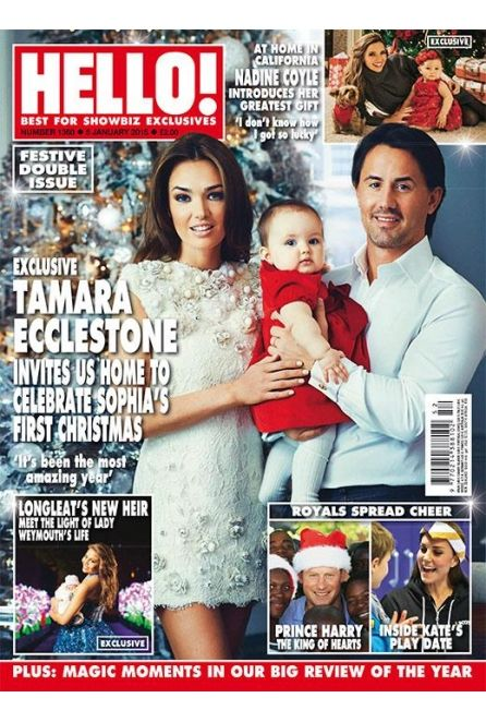 Tamara Ecclestone wearing NEVENA, Hello! magazine cover