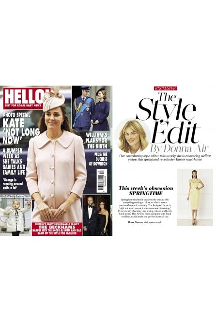 The Style Edit by Donna Air in HELLO! features NEVENA London Yellow Albatre set