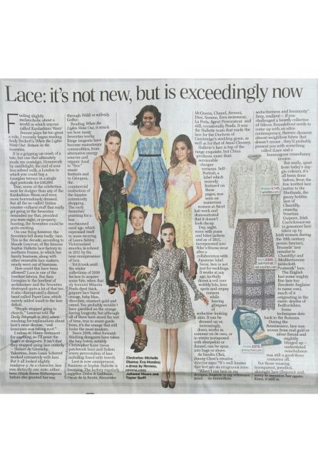 Lace: it's not new, but is exceedingly now